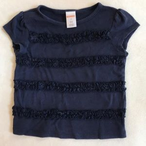 Gymboree girls tee with ruffle detail